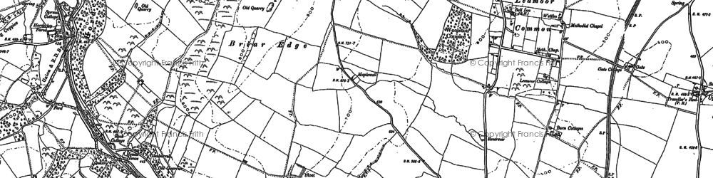 Old map of Leamoor Common in 1883
