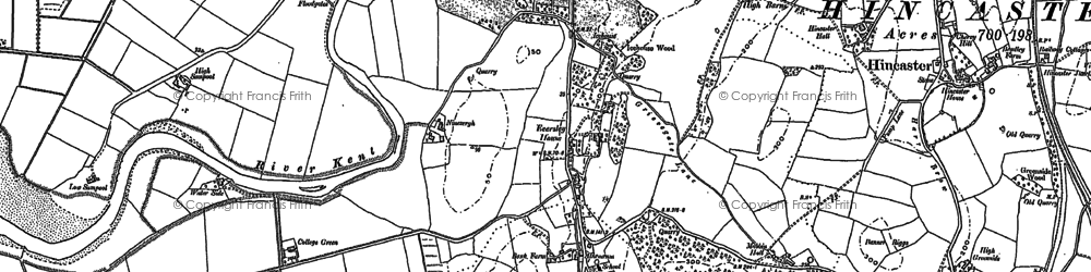 Old map of Leasgill in 1897