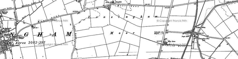 Old map of Leasingham Moor in 1887