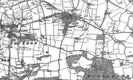 Old Map of Leasingthorne, 1896