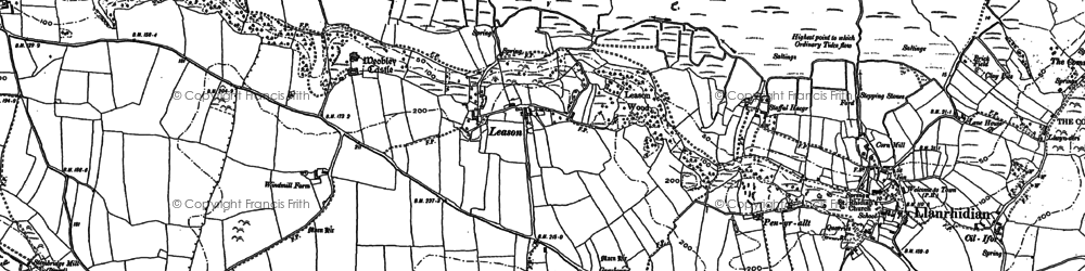 Old map of Leason in 1896