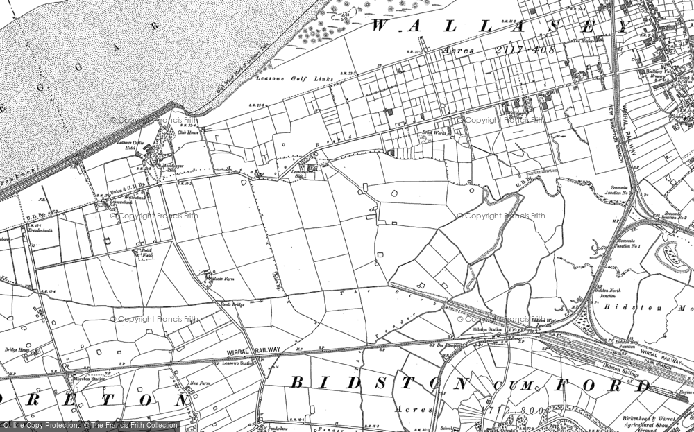 Old Map of Leasowe, 1909 in 1909