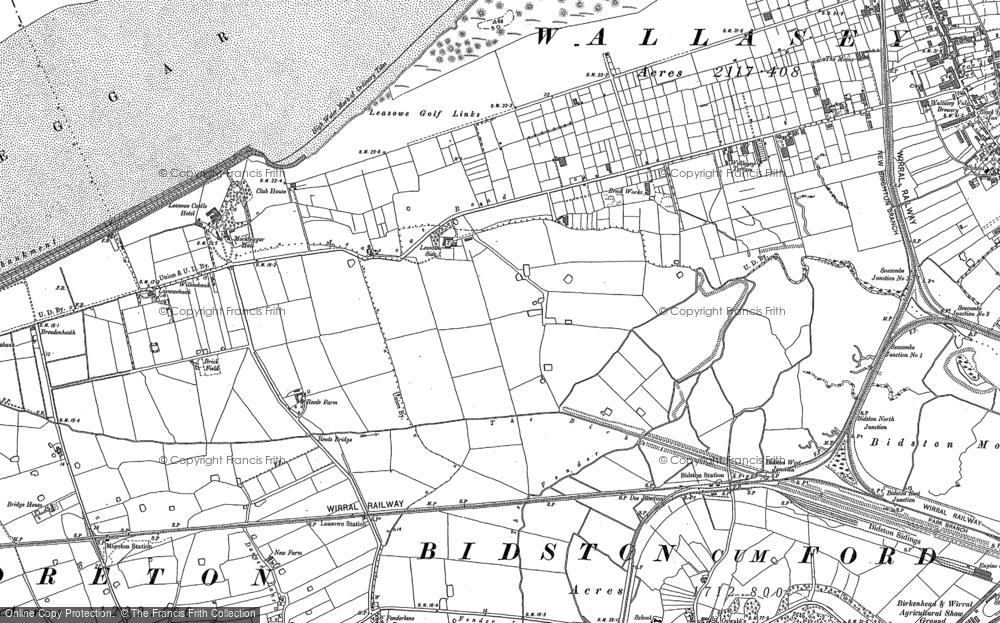 Map of Leasowe, 1909