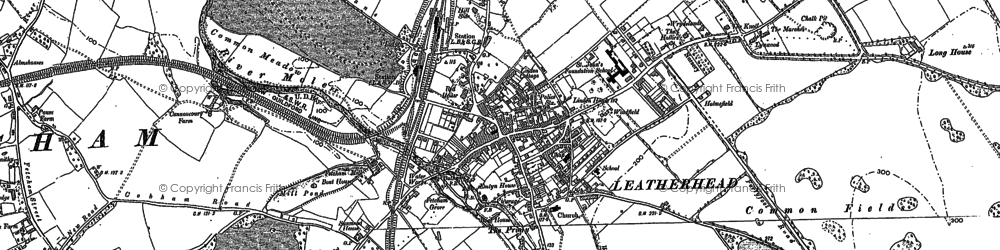 Old map of Downside in 1894