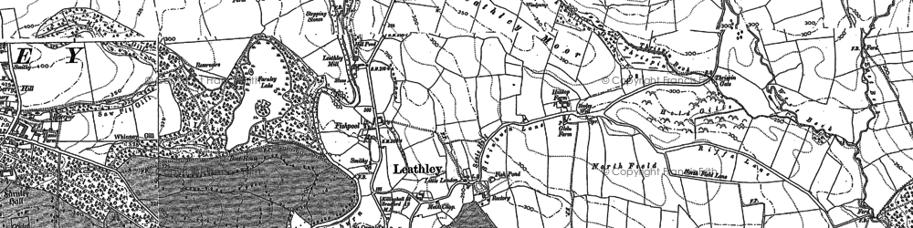 Old map of Leathley Grange in 1888