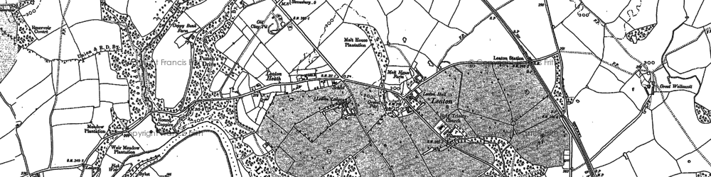 Old map of Leaton in 1880