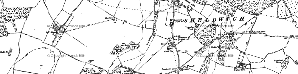 Old map of Leaveland in 1896