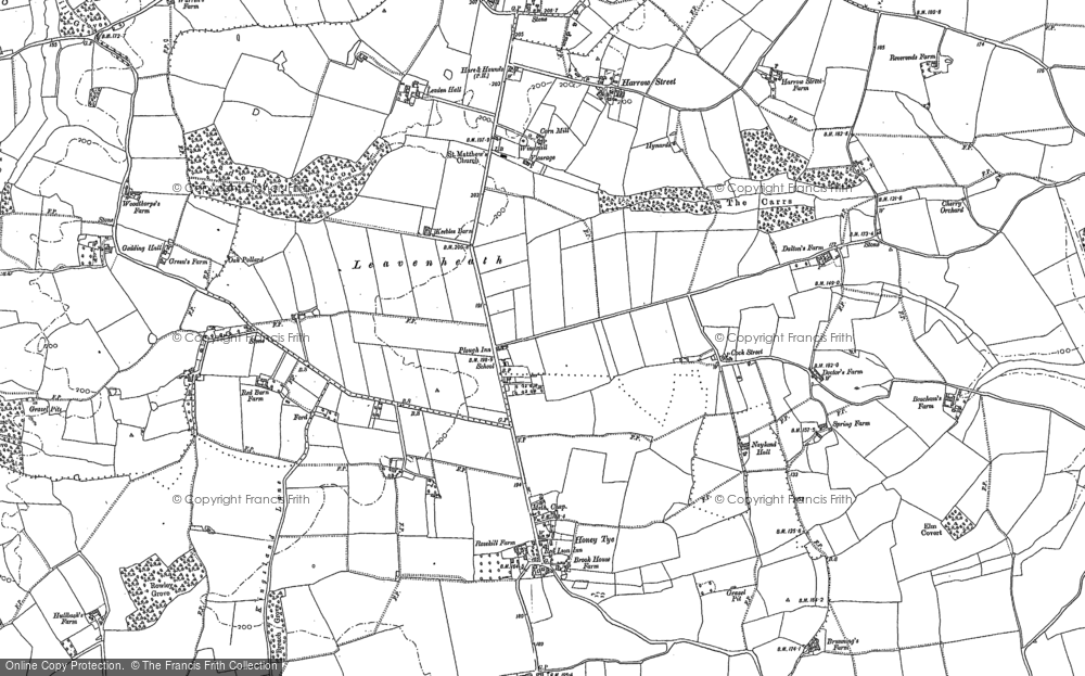 Old Map of Leavenheath, 1885 in 1885