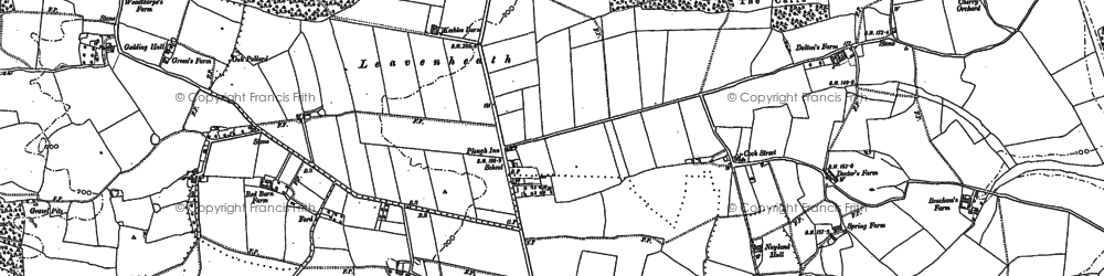 Old map of Arger Fen in 1885