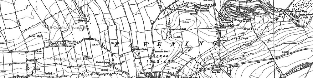 Old map of Leavening Brow in 1891
