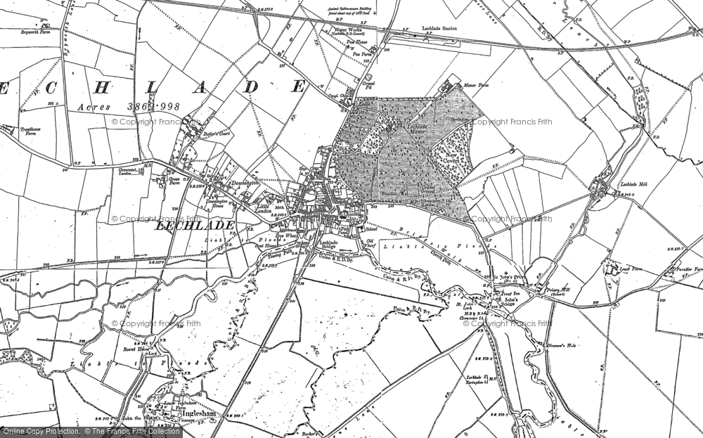 Old Map of Lechlade on Thames, 1896 - 1910 in 1896