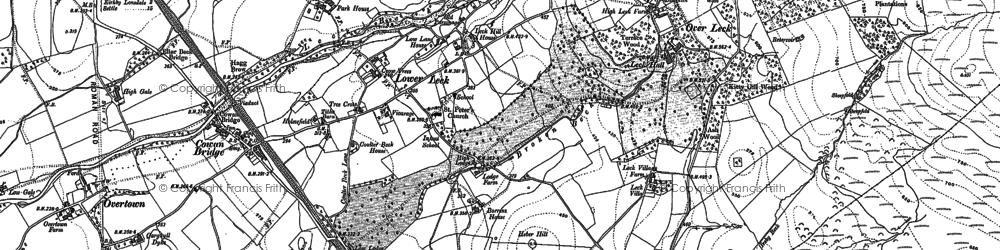 Old map of Leck Beck in 1910
