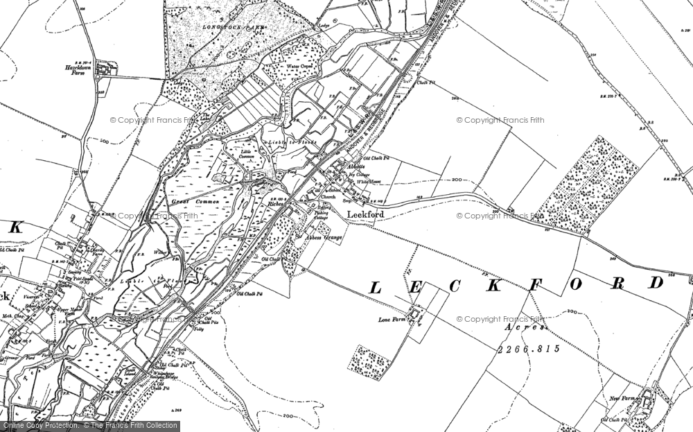Old Map of Leckford, 1894 in 1894