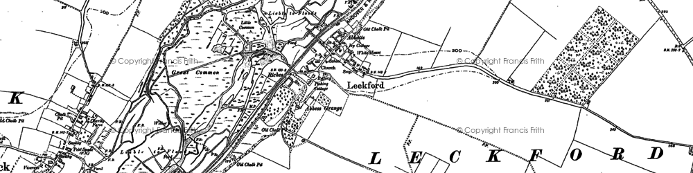 Old map of Leckford Abbas in 1894