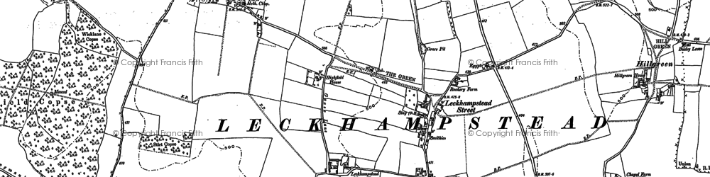 Old map of Leckhampstead in 1898