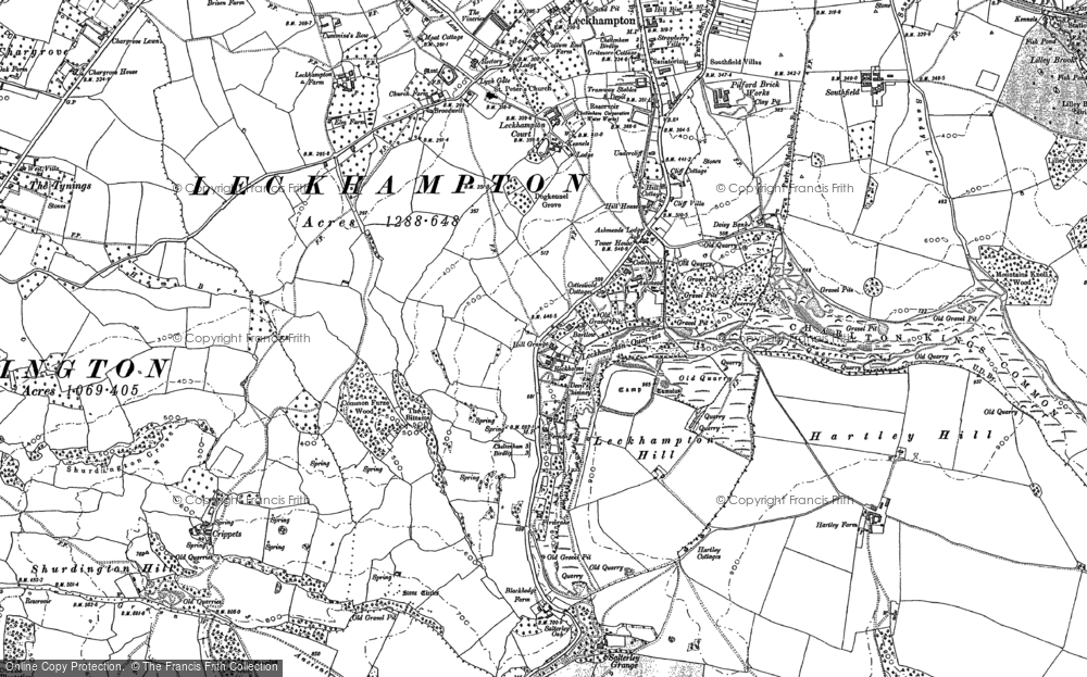 Old Map of Leckhampton Hill, 1883 - 1884 in 1883