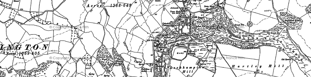 Old map of Leckhampton Hill in 1883