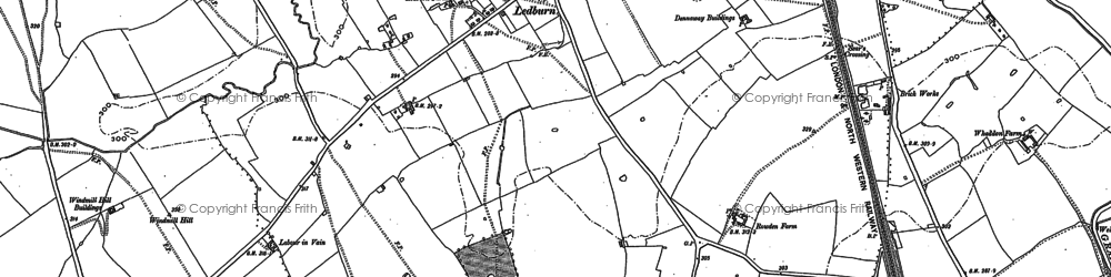 Old map of Ledburn in 1923