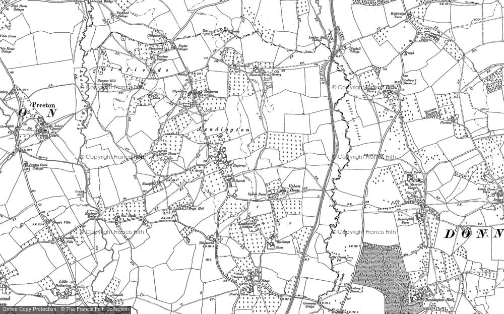 Old Map of Leddington, 1883 - 1901 in 1883