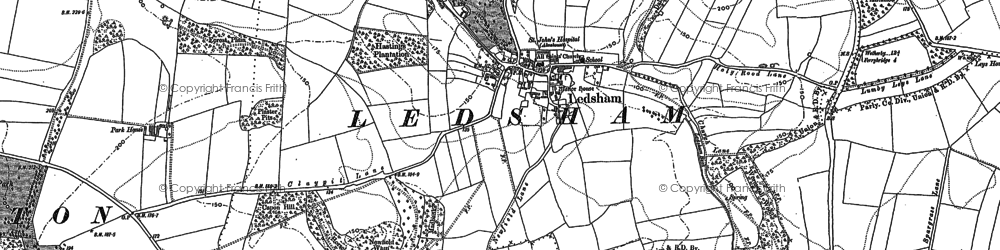 Old map of Ledsham in 1890