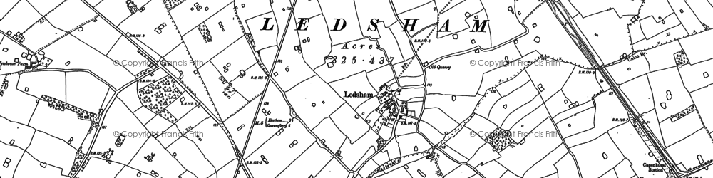 Old map of Badgers Rake Ho in 1897