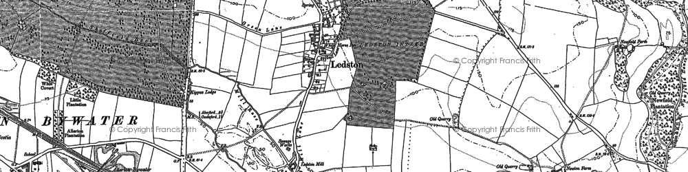 Old map of Ledston in 1890