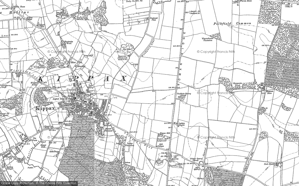 Old Map of Ledston Luck, 1890 in 1890