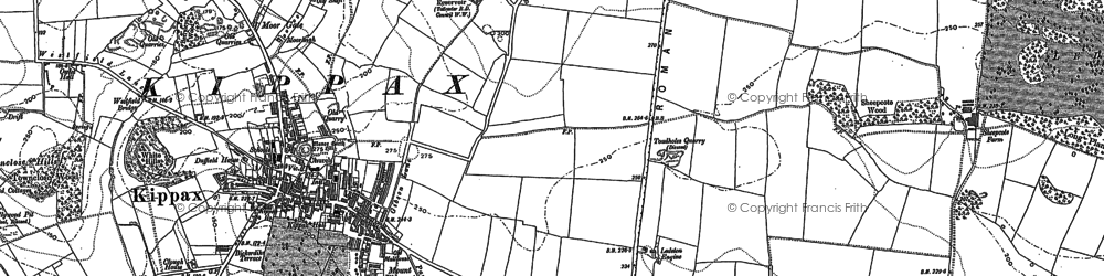Old map of Ledston Luck in 1890