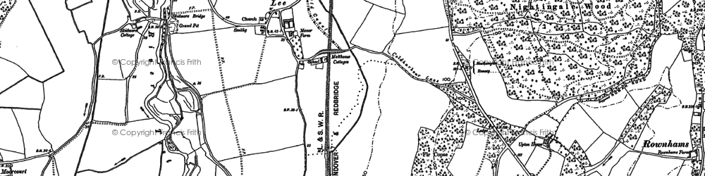 Old map of Yewtree Copse in 1895