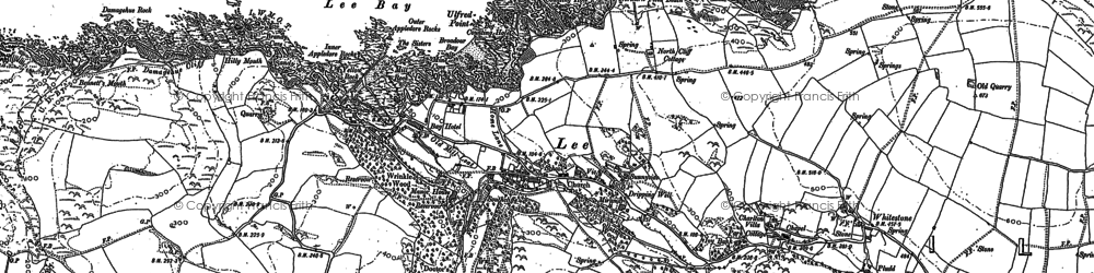 Old map of Lincombe in 1903