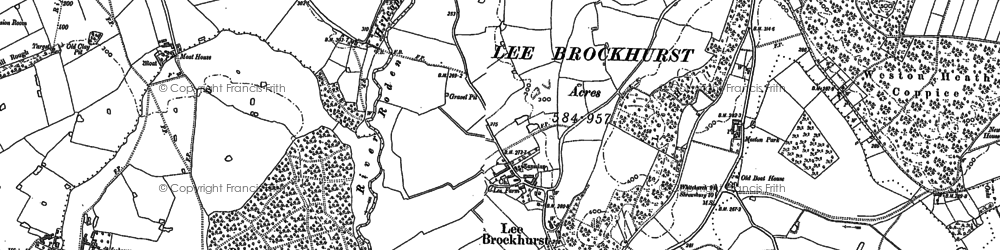 Old map of Lee Brockhurst in 1880