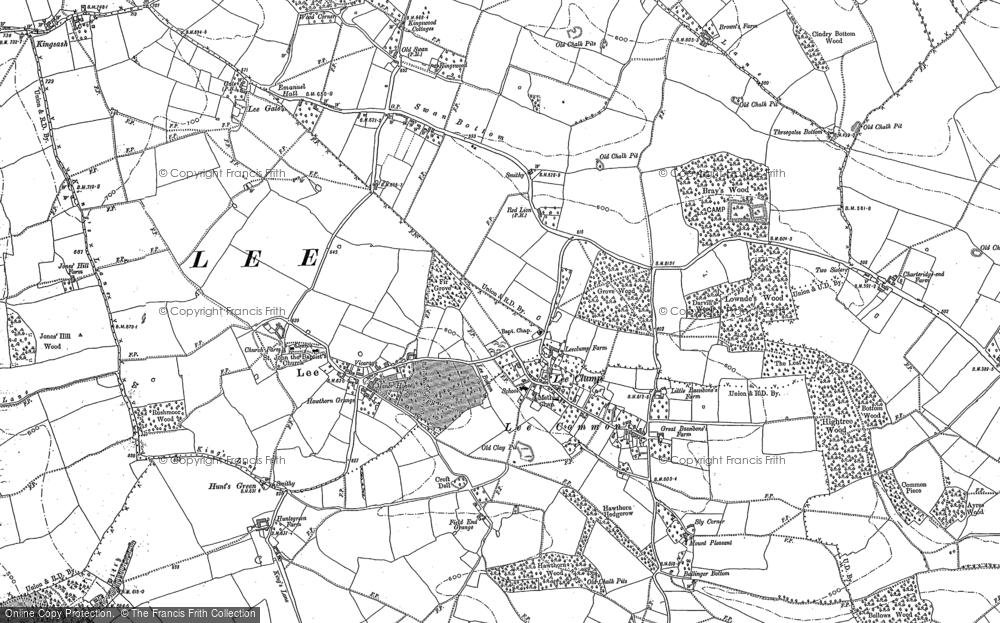 Old Map of Lee Common, 1897 in 1897