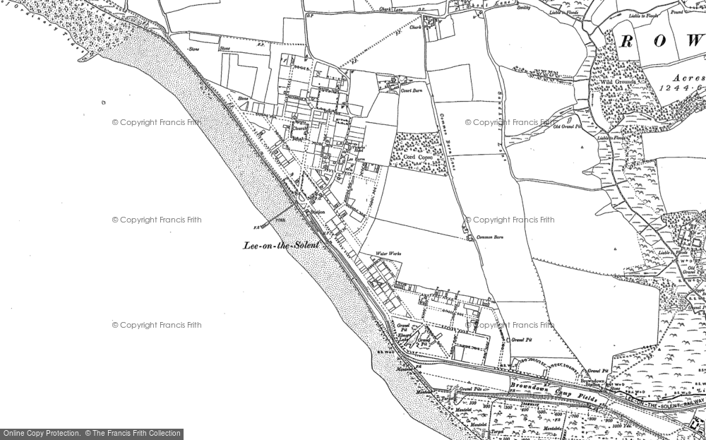 Old Map of Lee-on-the-Solent, 1907 in 1907