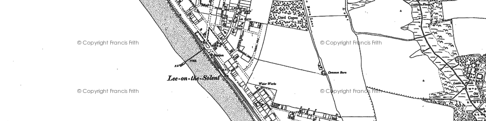 Old map of Lee-on-the-Solent in 1907