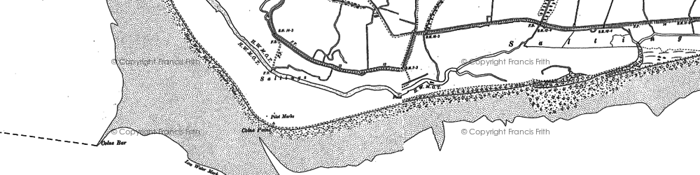 Old map of Lee-over-Sands in 1896