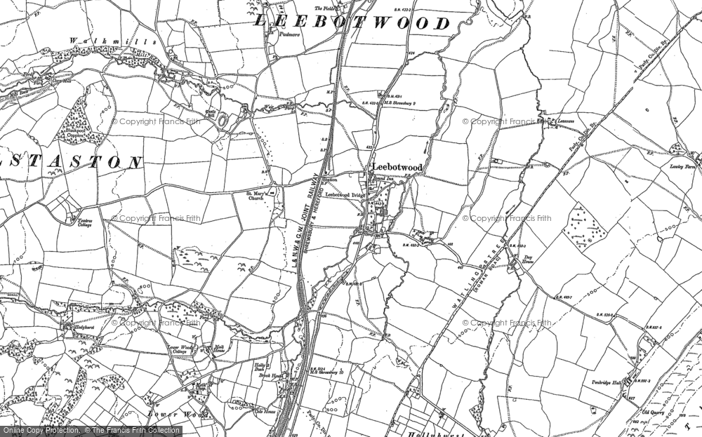Old Map of Leebotwood, 1882 in 1882
