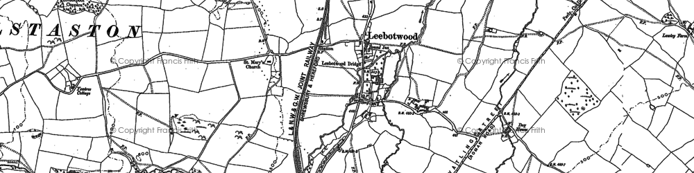 Old map of Leebotwood in 1882