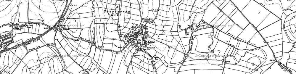 Old map of Leece in 1910