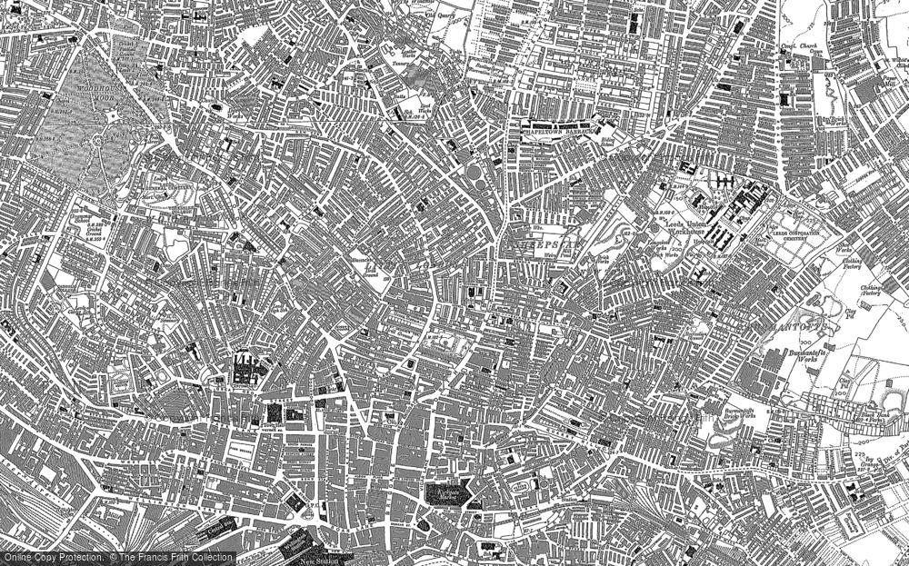 Map of Leeds, 1890
