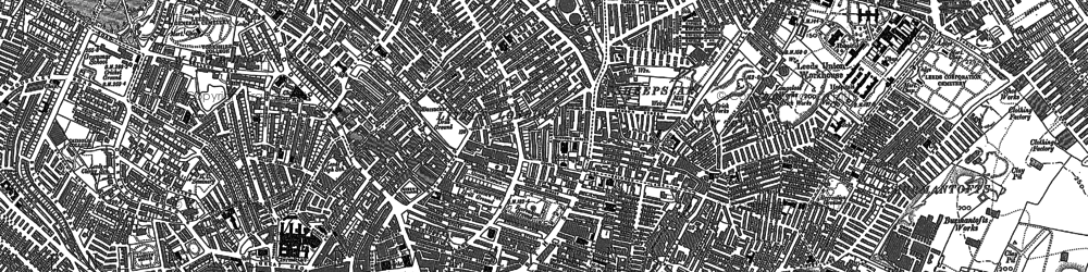 Old map of Leeds in 1890