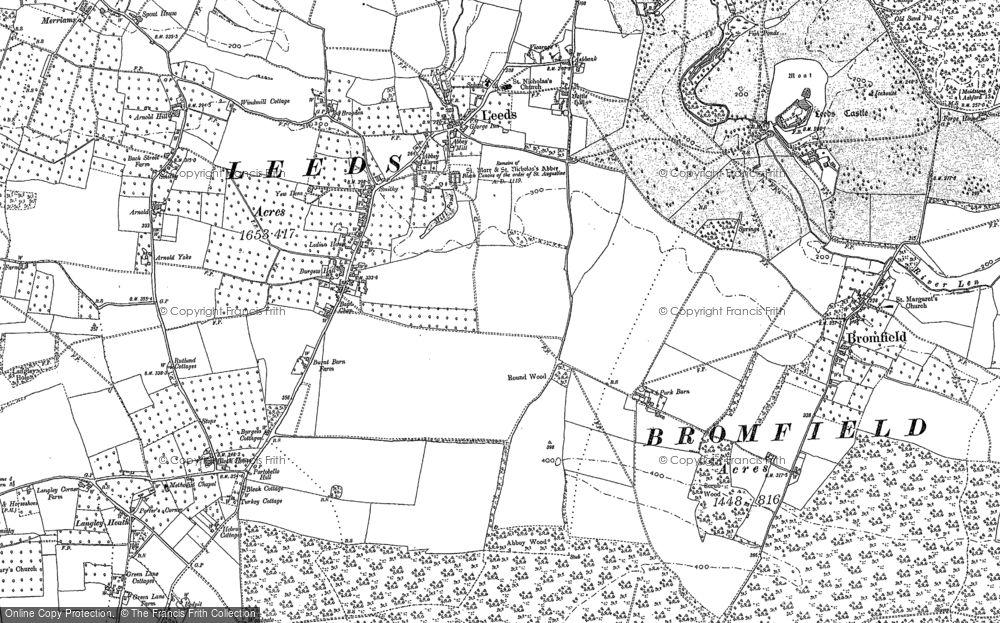 Old Map of Leeds, 1895 in 1895