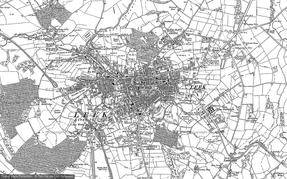 Old Map of Historic Map covering Abbey Green in 1878