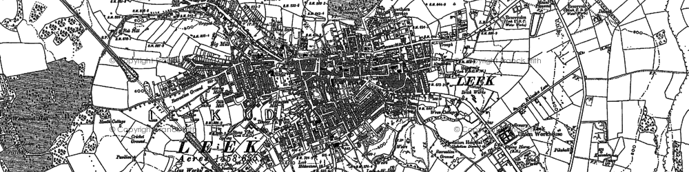 Old map of Abbey Green in 1878