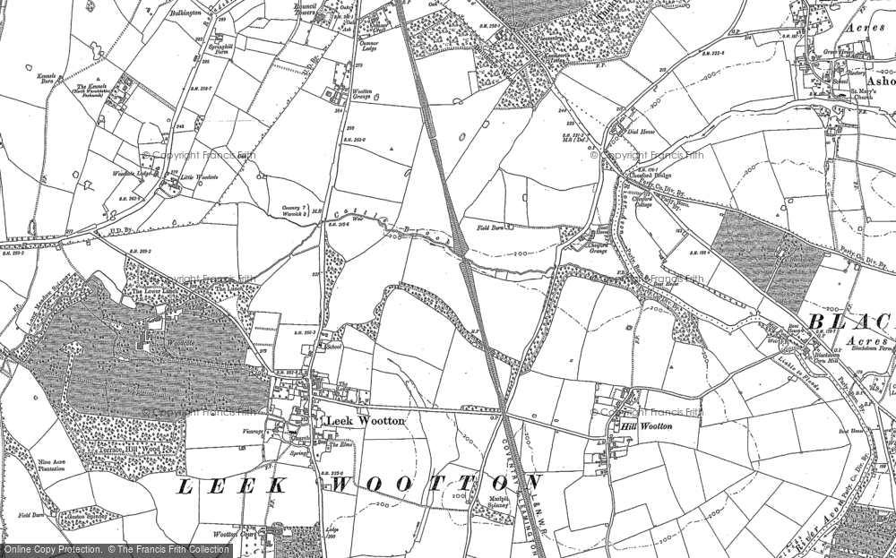 Old Map of Leek Wootton, 1886 in 1886