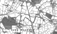 Old Map of Leek Wootton, 1886
