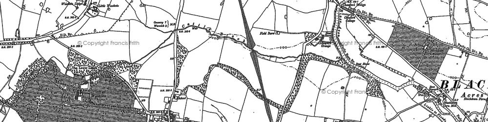 Old map of Woodcote in 1886