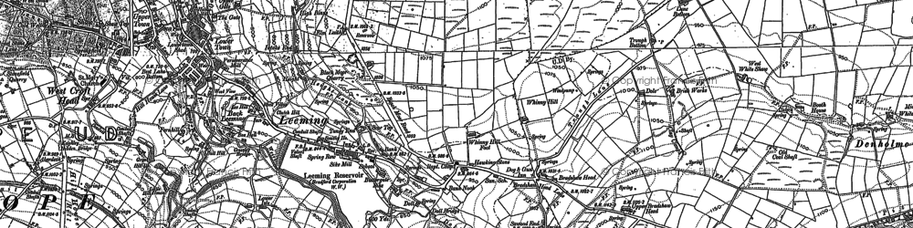 Old map of Whinny Hill in 1848