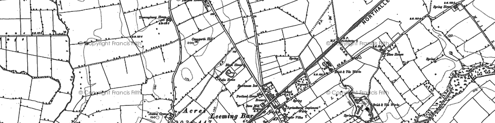 Old map of Leases Grange in 1891
