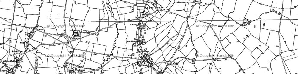 Old map of Longlane in 1880