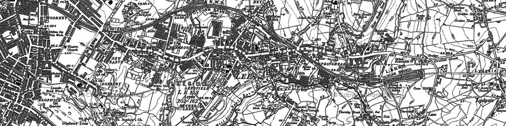 Old map of Lees in 1891
